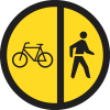 TR113 - Temporary Cyclists And Pedestrians Only Road Sign