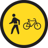TR114 - Temporary Pedestrians & Cyclists Only Road Sign