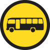 TR120 - Temporary Midi-Busses Only Road Sign