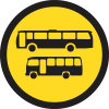 TR135 - Temporary Busses And Midi Busses Only Road Sign