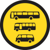 TR136 - Temporary Busses, Midi-Busses & Mini-Busses Only Road Sign