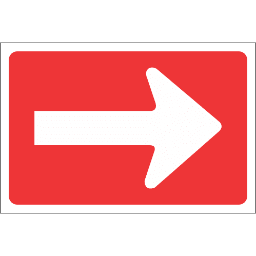 R4.2 - One-Way Right Road Sign