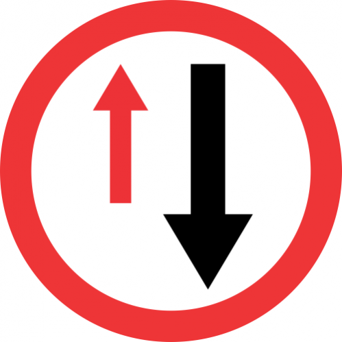 R6 - Yield To Oncoming Traffic Road Sign