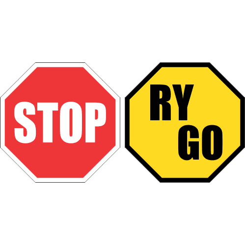 R1.5 - Stop/Go-Ry Road Sign c/w Swivel Stand