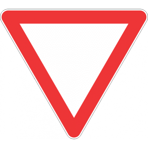 R2 - Yield Road Sign