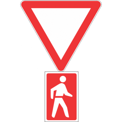 R2.1 - Yield To Pedestrians Road Sign