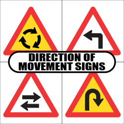 Direction of Movement Road Sign