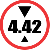 R204 - Height Limit Road Sign