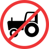 R236 - No Agricultural Vehicles Road Sign
