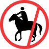 R238 - No Horses & Riders Road Sign