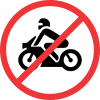 R222 - No Motor Cycles Road Sign