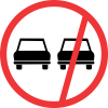 R214 - No Overtaking - All Vehicles Road Sign