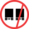 R215 - No Overtaking - Goods Vehicles Road Sign