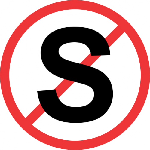 R217 - No Stopping Road Sign