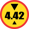 TR204 - Temporary Height Limit Road Sign
