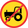 TR236 - Temporary No Agricultural Vehicles Road Sign