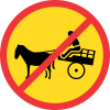 TR237 - Temporary No Animal Drawn Vehicles Road Sign