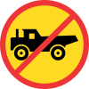 TR231 - Temporary No Construction Vehicles Road Sign