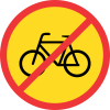 TR219 - Temporary No Cyclists Road Sign