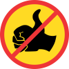 TR207 - Temporary No Hitch-Hiking Road Sign