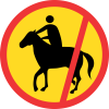 TR238 - Temporary No Horses & Riders Road Sign