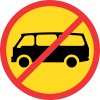 TR225 - Temporary No Mini-Busses Road Sign