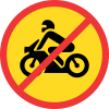 TR222 - Temporary No Motor Cycles Road Sign