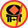 TR232 - Temporary No Vehicles Conveying Dangerous Goods Road Sign