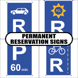 Permanent Reservation Road Sign