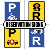 Reservation Road Signs