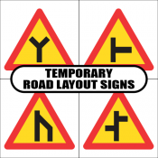 Temporary Road Layout Road Signs