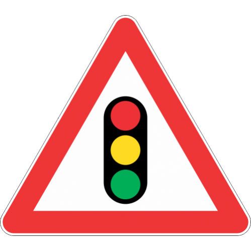 W301 - Traffic Signals Ahead Road Sign