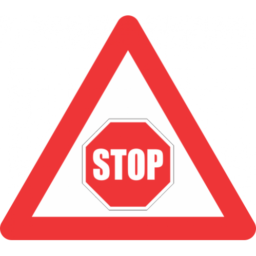 W302 - Traffic Stop Control Ahead Road Sign