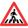 W306 - Pedestrian Crossing Road Sign