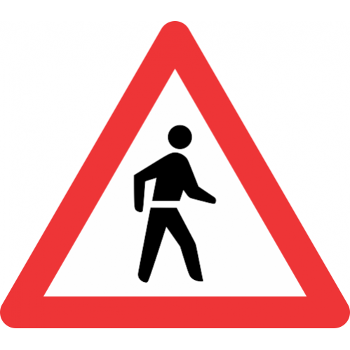 W307 - Pedestrian Road Sign