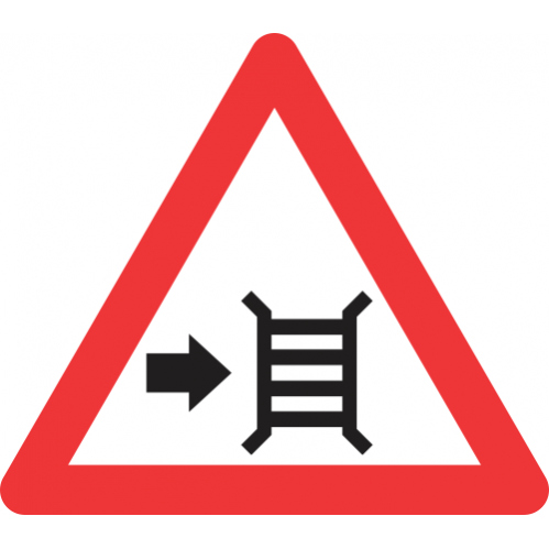 W315 - Motor Gate (Right) Road Sign