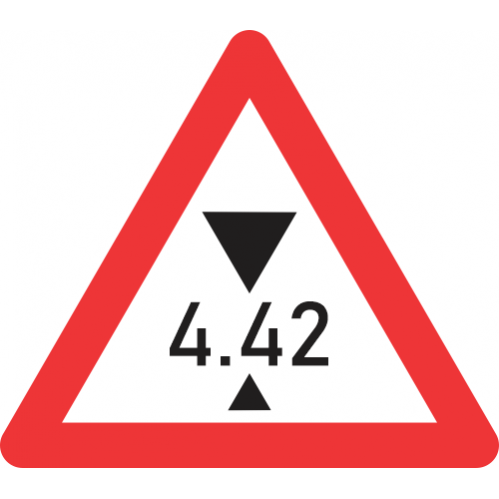 W320 - Height Restricted Road Sign