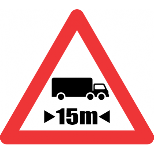 W321 - Length Restricted Road Sign