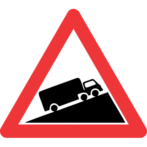 W323 - Steep Ascent Road Sign