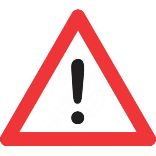 W339 - General Warning Road Sign