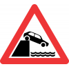 W348 - Jetty Edge or River Bank Road Sign