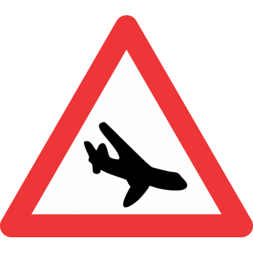 W351 - Low Flying Aircraft Road Sign