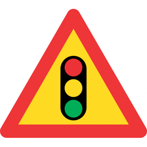 TW301 - Temporary Traffic Signals Ahead Road Sign