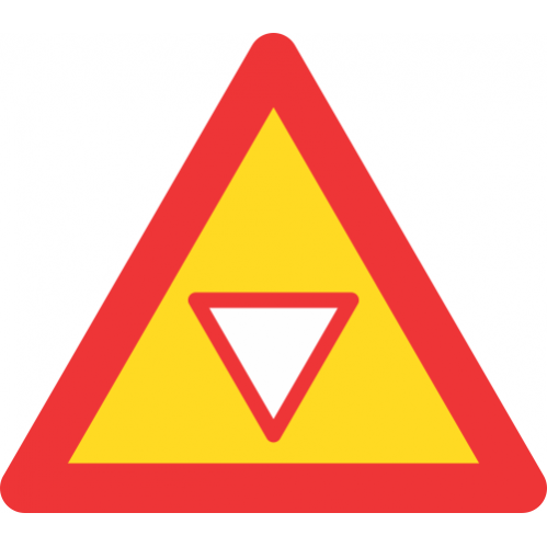 TW303 - Temporary Traffic Yield Control Ahead Road Sign