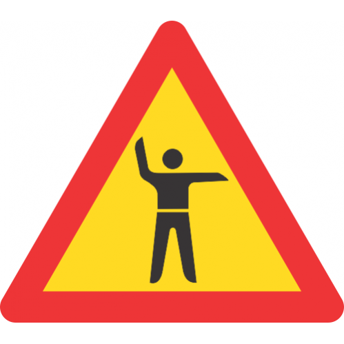 TW304 - Temporary Traffic Control Ahead Road Sign