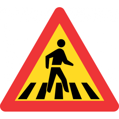 TW306 - Temporary Pedestrian Crossing Road Sign