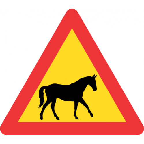 TW311 - Temporary Domestic Animals (Horses) Road Sign