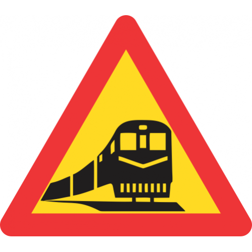 TW318 - Temporary Railway Crossing Road Sign