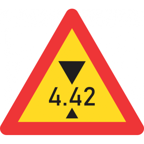 TW320 - Temporary Height Restricted Road Sign