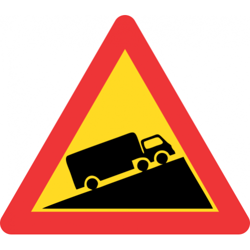 TW323 - Temporary Steep Ascent Road Sign
